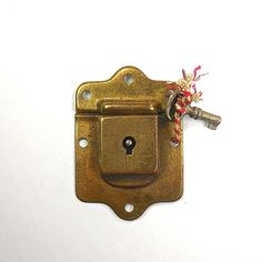 Salvaged Drawer/Cabinet Lock with Key by OldRedHenVintage on Etsy