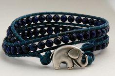 Lapis Lazuli Wrap Bracelet by EleganceMade on Etsy