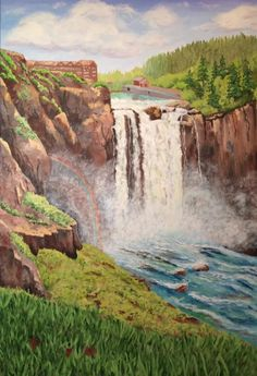 """Snoqualmie Falls"" by Carol Schmauder"