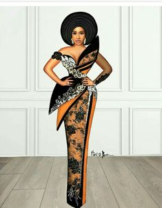 Nigerian Lace Styles Dress, Lace Gown Styles, Short African Dresses, Latest African Fashion Dresses, African Print Dresses, African Print Fashion, Fashion Illustration Dresses, African Attire, Classy Dress