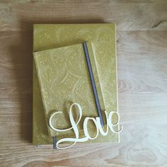 Love by CreativeRoute.com | Christian Lacroix's Gold Embossed Journals