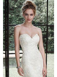 Dramatic Sweetheart Natural Train Lace Ivory Sleeveless Wedding Dress with Sashes and Appliques LWXT150C0 #weddingdress #landybridal