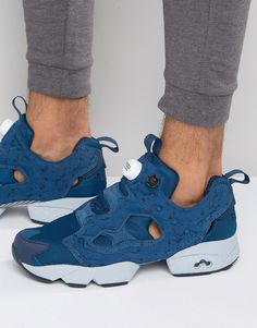 Reebok Instapump Fury Splatter Sneakers In Blue AQ9800
