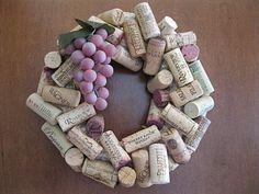 wine corks wreath