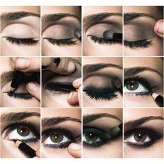 Smokey eyes application!