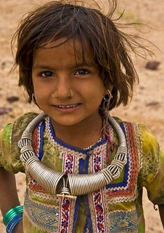 Tribal girl in Gujarat, India