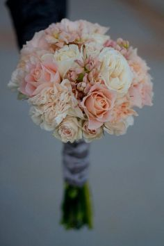 (A) My favorite of the blush/peach bouquets; want shorter stems