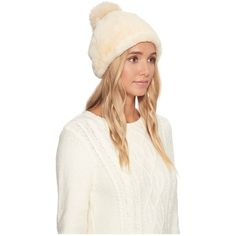98ca4e2932f91 UGG Exposed Sheepskin Beanie (Chestnut) Beanies ( 145) ❤ liked on Polyvore  featuring accessories