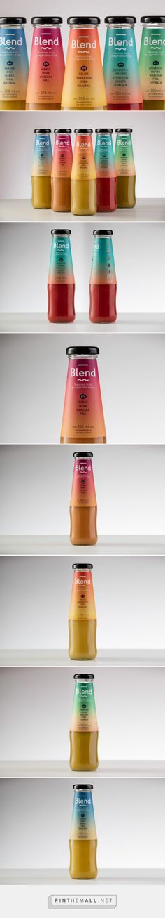 Blend - Premium Fruit & Vegetable Drink - Packaging of the World - Creative Package Design Gallery - http://www.packagingoftheworld.com/2016/02/blend-premium-fruit-vegetable-drink.html