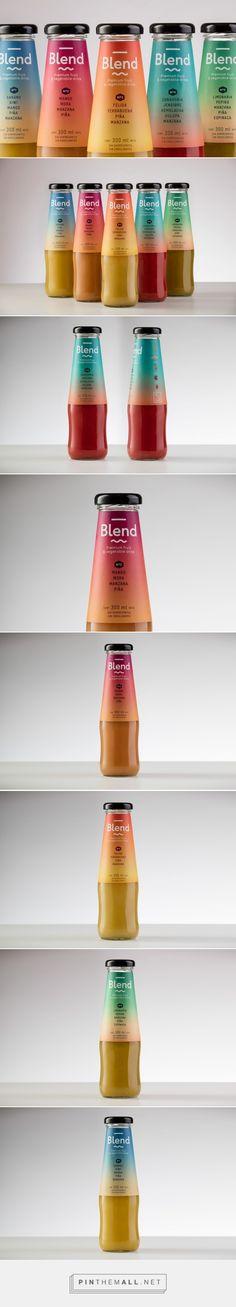 Blend - Premium Fruit & Vegetable Drink - Packaging of the World - Creative Package Design Gallery - http://www.packagingoftheworld.com/2016/02/blend-premium-fruit-vegetable-drink.html