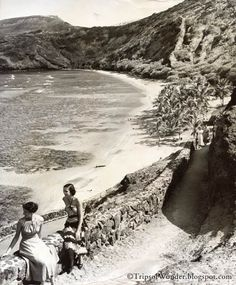 1950s photo of Hanauma Bay