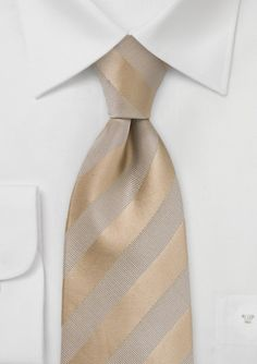Golden Wheat Striped Tie - Create a look that works for you with this rich and regal striped tie in elegant golds. The mix of colors and textures give this tie a fresh warmth Mens Wedding Ties, Wedding Suits, Wedding 2017, Wedding Groom, Fall Wedding, Dream Wedding, Groomsmen Accessories, Extra Long Ties, Gold Tie
