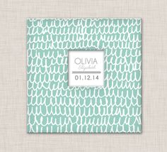 Baby Book, A Modern Baby Memory Book (Mint Lines Cover, 9.25 x 9.5) by ModernBabyBooksShop on Etsy