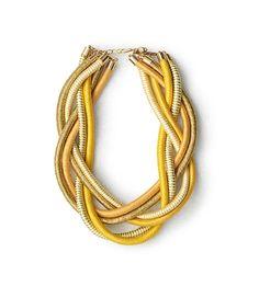Colar Seda Amarelo Ouro
