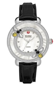 MICHELE 'Cloette Bee' Customizable Diamond Watch