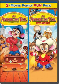 Dom DeLuise & Christopher Plummer & Simon Wells & Don Bluth -An American Tail Family Fun Pack Universal Studios, Amy Irving, Jon Lovitz, Scatman Crothers, Madeline Kahn, An American Tail, Brave Little Toaster, Sing Along Songs, Christopher Plummer