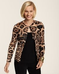 Collection Leopard Fringe Jacket