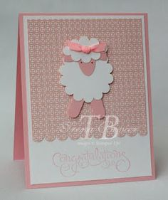 Snowflake Stamper: Punchy Sheep Card