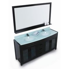 Contemporary Art Sites Found it at Wayfair Double Solid Wood Bathroom Vanity Set with Mirror Lake house Pinterest Solids It and Bathroom vanities