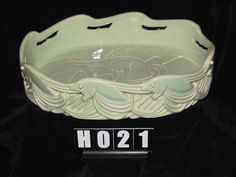 Royal Hickman Ra Art Pottery Deco Repeating oval Fish Bowl. Very hard to come by. Only two known examples exist. Please contact nylesg@outlook.com or billtd@yahoo.com if you ever find one.