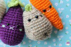 Amigurumi Food: Veggies Amigurumi Food Free Crochet Pattern Crochet food kawaii potato!!