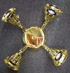 Fan (4)Light Kit  Polished Brass for Homestead Fan 60 watt ea. light Swivel Arms