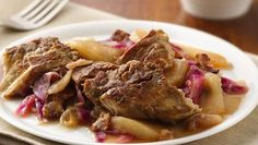 Slow-Cooker German Red Cabbage and Pork Ribs(YUM!) - QE cc pr