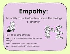 EMPATHY SCENARIOS: This lesson has a quick page about what empathy is and how to be empathetic along with 6 scenario cards with questions. If you find this helpful other products that include scenarios are: A Free Sample of Social Skills Game Prompts Tattling Verses Reporting Mindfulness for Kids Honesty Packet