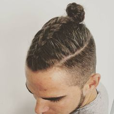 The Latest Men's Hair Trend Is the New Man Bun via Brit + Co.