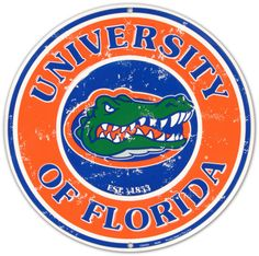 University of Florida Tin Sign---Gainesville, Fl.. some of the best years of my life! The college years! ; )