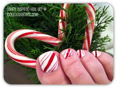Top 10 Holiday Candy Inspired Nail Art Designs