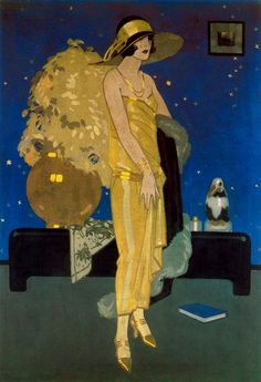 Rafael de Penagos was the artist who introduced illustration Art Deco in Spain. His role in the Spanish illustration was fundamental as the precursor of a new model of woman, modern and stylized. Arte Art Deco, Moda Art Deco, Art Deco Era, Art Deco Illustration, Alphonse Mucha, Art Vintage, Vintage Posters, Belle Epoque, Art Quotidien