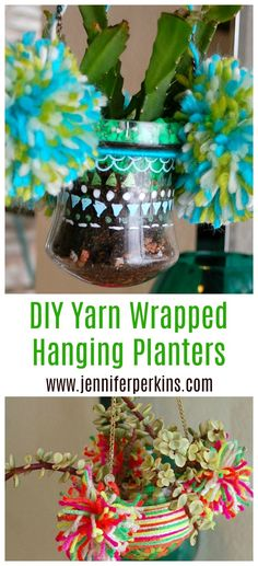 Easy DIY upgrades for glass hanging planters and terrariums by Jennifer Perkins