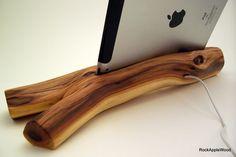 Manzanita Wood iPad Stand & Charging Station ICN by dockartisan  $100