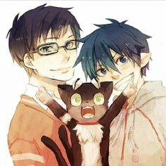 Okumura brothers   Ao no Exorcist [unknown source]