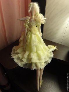 Купить Кукла тильда. Лимона - лимонный, Будуарная кукла, кукла ручной работы…