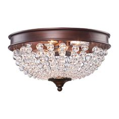 Artcraft Lighting CL1364 Cobochon 2-Light Flush Mount Ceiling Light