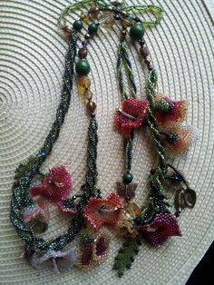 One of my favs..necklace made in a class with margo fields