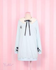 【To Alice】 C379-萌爪刺繡長款加絨衛衣-淘寶網