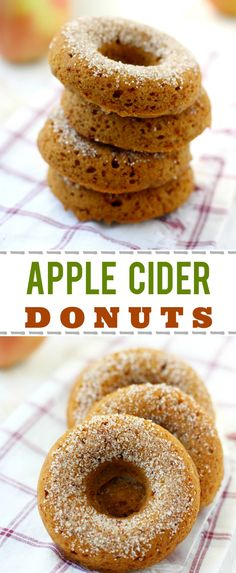 Nothing says fall like fresh baked donuts! These are extra delicious with apple cider and spices in the batter. A perfect treat for fall! Gluten free and vegan.