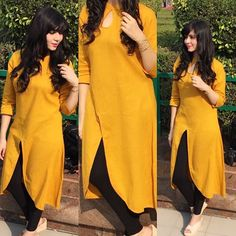 The grace and the confidence wraps around and falls flawlessly. NEW POST will be live on SUNDAY Stay tuned. Simple Kurti Designs, Salwar Designs, Kurta Designs Women, Kurti Designs Party Wear, Dress Neck Designs, Designs For Dresses, Kurta Neck Design, Neck Design For Kurtis, Indian Designer Outfits