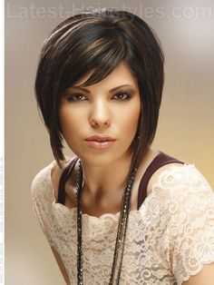 dramatic bob hairstyle | 13 Sensational Short Hairstyles for Long Faces | Latest-Hairstyles.com