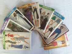 VIntage Lot - 9 Sewing Patterns 1960s 1970s 1980s Simplicity McCall's Misses #sewing #paperpatterns #simplicity #mccall's #makingclothes