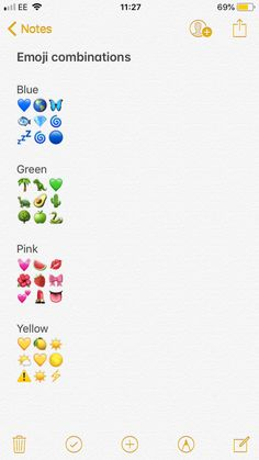 #snapchat #lifehack #emoji #combinaisons #color #art #lifestyle