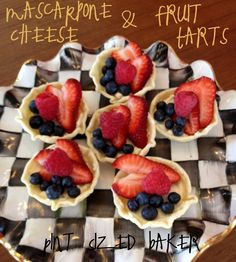 Pint Sized Baker: Homemade Mascapone Cheese and Tarts