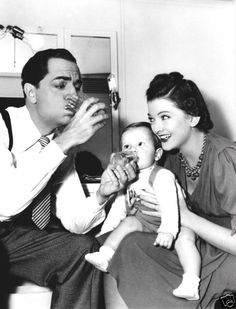 Mr. and Mrs. Thin Man with Nick Jr. in Another Thin Man. (William Powell and Myrna Loy)