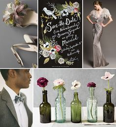 """Vintage + Whimsical Floral"" (Green Wedding Shoes)"