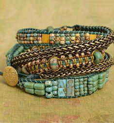 Color Study   Free Wrap Bracelet Project   Beadshop.com