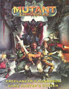 Mutant Chronicles: Freelancer's Handbook & Game Master's Screen ~ Target Games Space Fantasy, Fantasy Art, Mutant Chronicles, Tabletop Board Games, Bioshock, Sci Fi Art, Heavy Metal, Goth, Books
