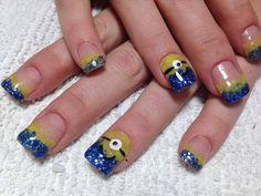 Minion nails 2014- Done by Maritza